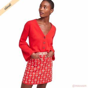[Maeve] Red/Tan Quant Mini Skirt